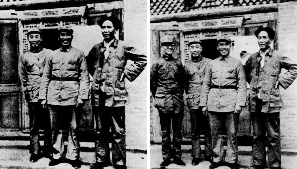 Mao Zedong qui fait disparaître un de ses hommes, sur le blog La Retouche photo.