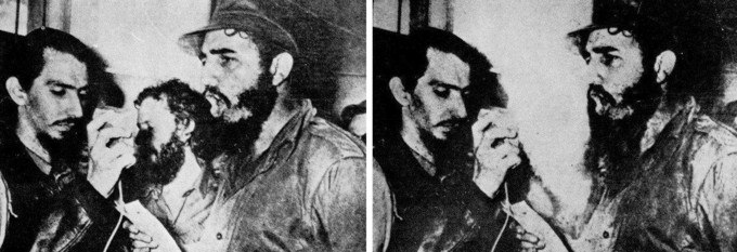 Fidel Castro fait supprimer Carlos Franqui, 1968, sur le blog La Retouche photo.