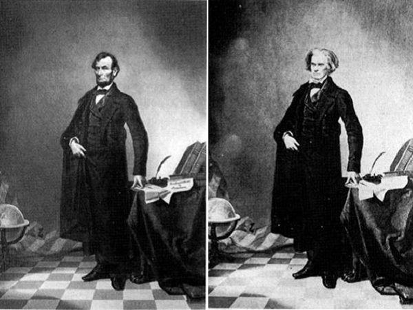 A. Lincoln (à gauche) et J. Calhoun (à droite), sur le blog La Retouche photo.
