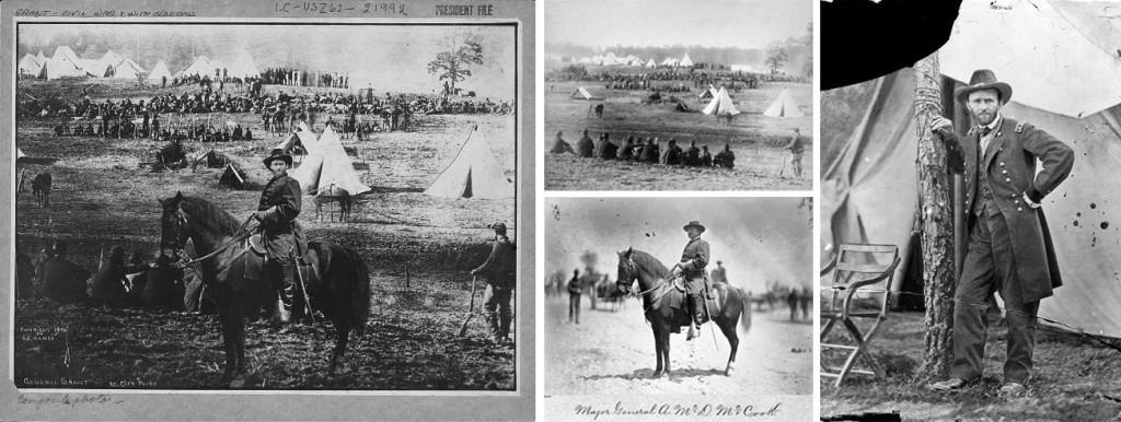 Général Ulysses Grant au front, montage à partir de 3 photos, sur le blog La Retouche photo.