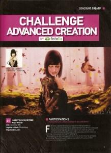 Magazine Advanced Creation. Challenge12, 1er prix