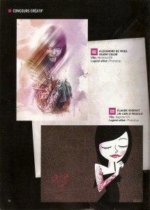 Magazine Advanced Creation. Challenge12, 2ème et 3ème prix