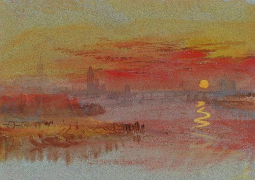 Coucher de soleil écarlate, 1830, copyright William Turner, sur le blog La Retouche photo.