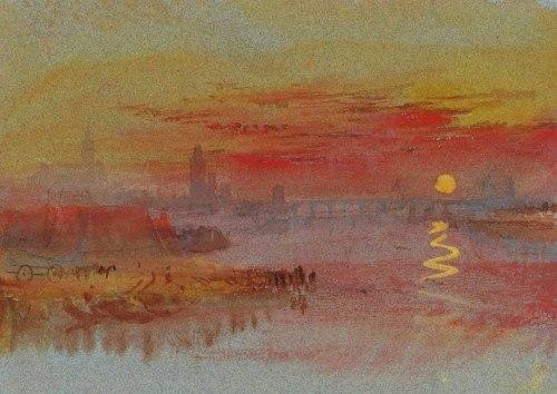 Coucher de soleil écarlate, 1830, copyright William Turner, sur le blog La Retouche photo.