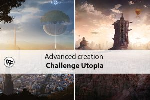 "les résultats du challenge 18 ""Uotpia"" organisé par le magazine Advanced creation et Fotolia, sur le blog La Retouche photo."