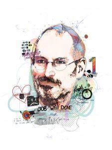Steve Jobs par Raphael Vicenzi, sur le blog La Retouche photo.