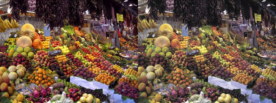La Boqueria Wikipédia des couches couleurs RGB VS CMYK