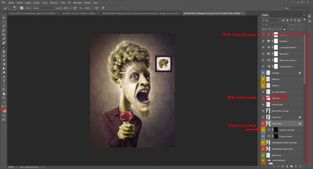Photoshop cours 002 : Organiser les calques, sur le blog La Retouche photo
