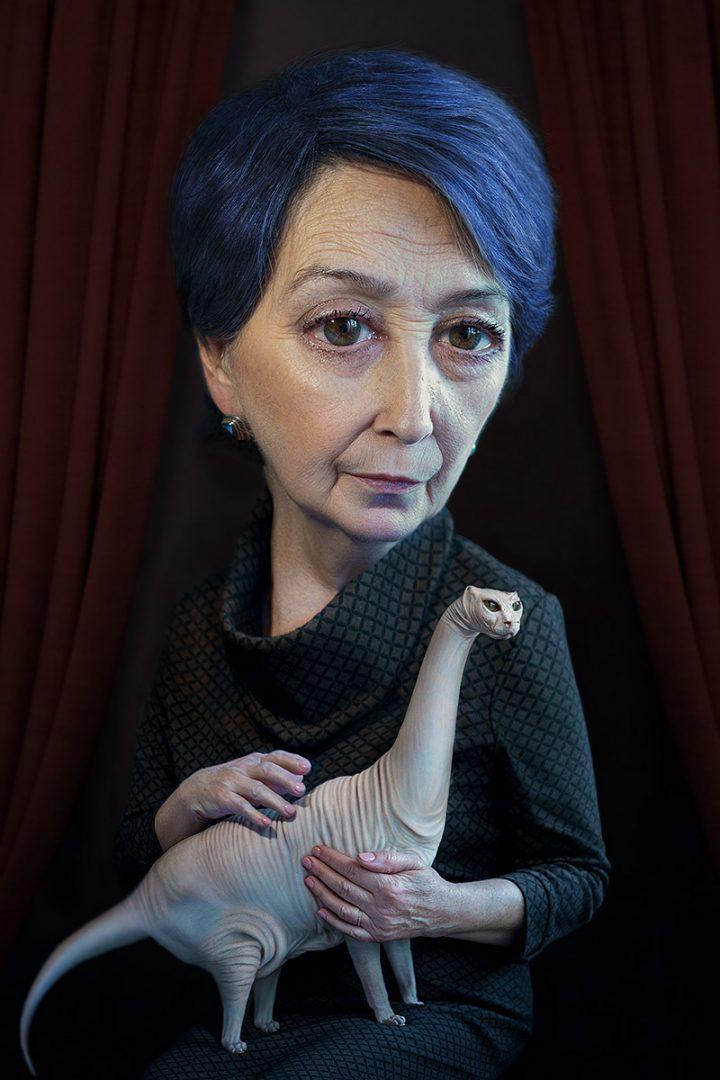 Alexei Sovertkov, Portraituning : Old woman 2, sur le blog La Retouche photo.