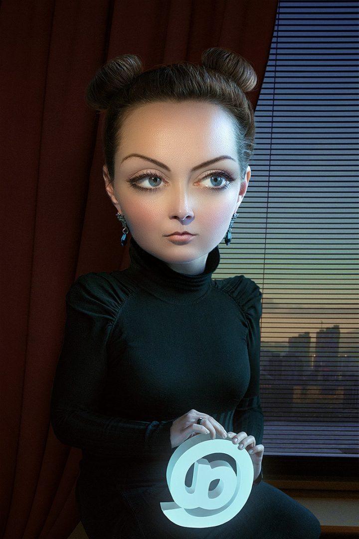 Alexei Sovertkov, Portraituning : Young woman, sur le blog La Retouche photo.