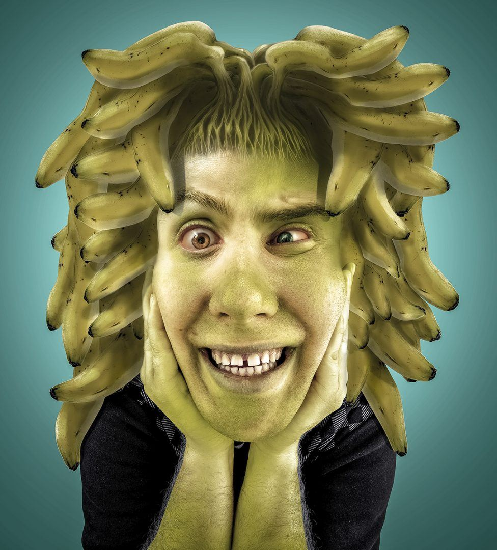 Glade Banana, un défi capillaire sur Photoshop, blog La retouche photo