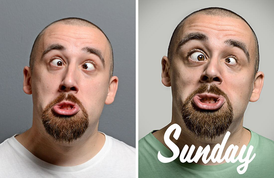 Sunday week portrait quotes par le retoucheur photo Alexandre De Vries