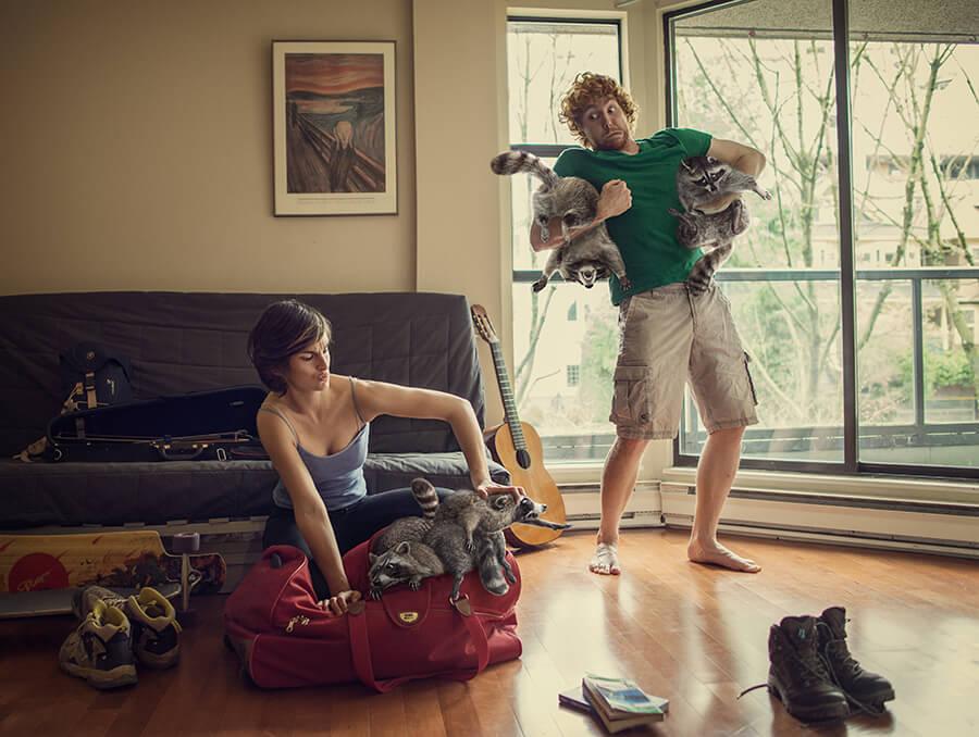 """Un jour, un artiste : Laure Fauvel """"bagages"""". La retouche photo, le blog."""