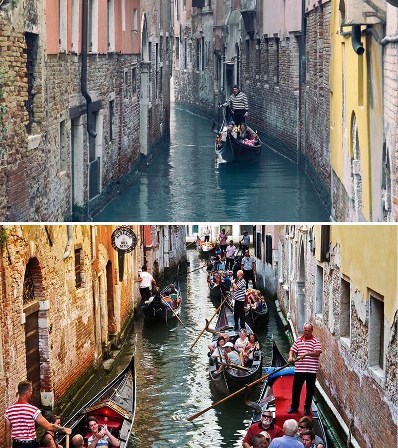 Venise, Italie : les photos de magazine et la réalité