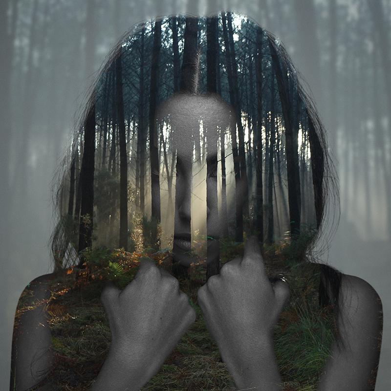 Beauty silence 1/10, série en double exposition par Alexandre De Vries
