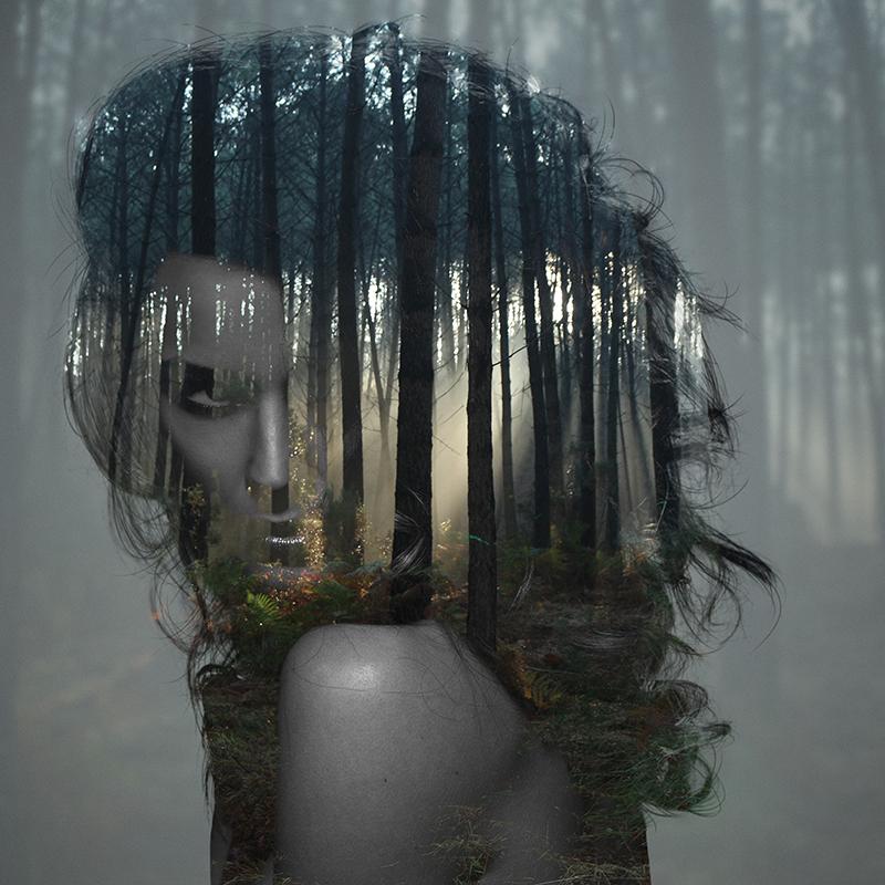 Beauty silence 3/10, série en double exposition par Alexandre De Vries