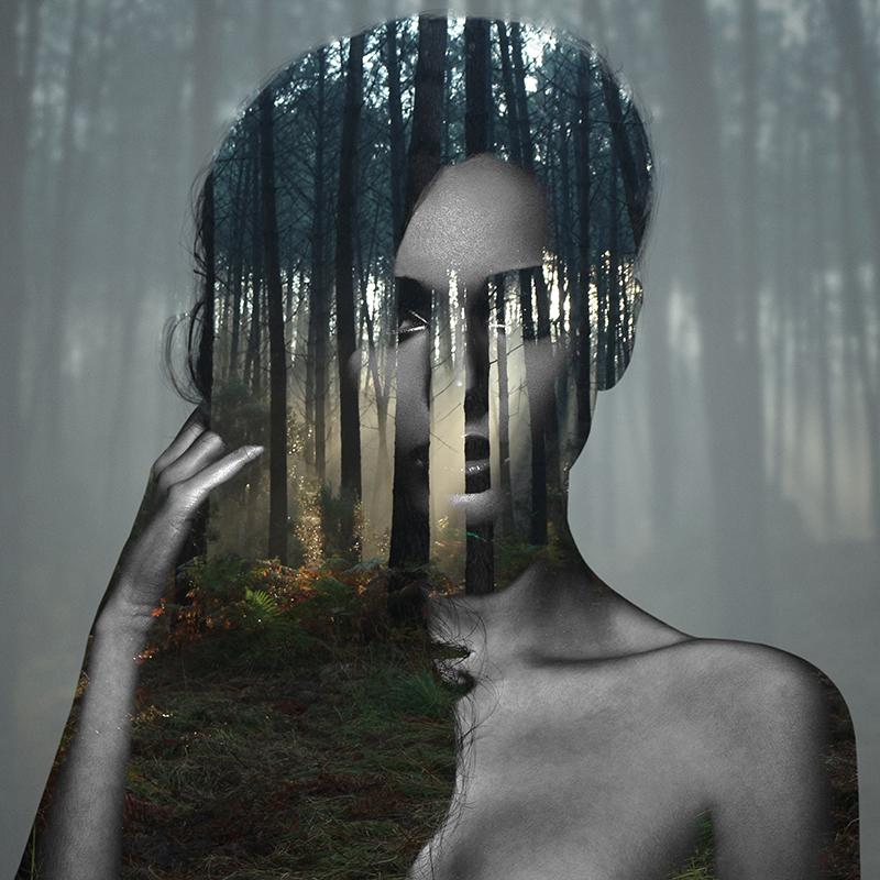 Beauty silence 4/10, série en double exposition par Alexandre De Vries