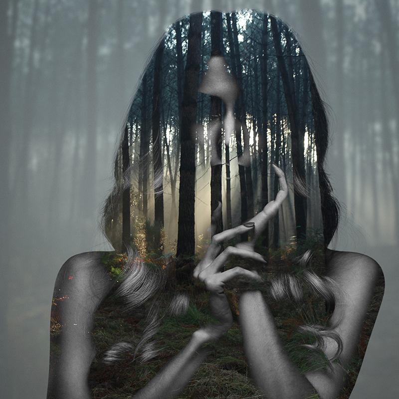 Beauty silence 7/10, série en double exposition par Alexandre De Vries