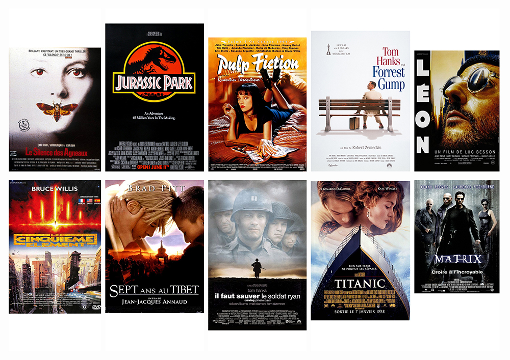 Top 30 des affiches de film de 1990, sur le blog La Retouche photo