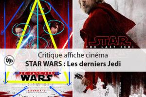 Critique de l'affiche cinéma Star Wars : les derniers Jedi dans Photoshop