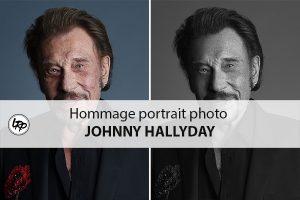 Johnny Hallyday hommage retouche portrait photo dans Photoshop