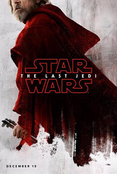 Afrfiche Star Wars 8, les derniers Jedi, Luke Skywalker, sur la Retouche photo.