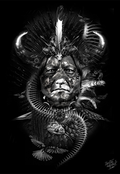Sitting Bull, Fantasmarik, par Nicolas Obery sur le blog La Retouche photo.