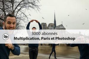 Montage photo et vidéo des 3000 abonnés de la chaîne Youtube La Retouche.