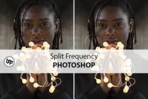 Split frequency dans Photoshop, sur le blog La Retouche photo.