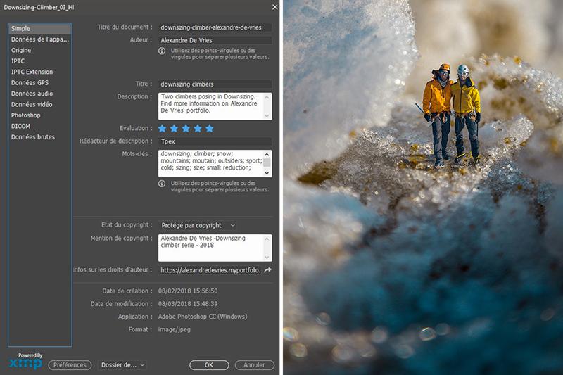 Découvrez comment référencer vos photos avec Photoshop, sur le blog La Retouche photo.