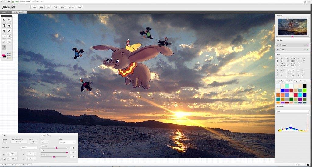 Picozu_imprime ecran, copyright la retouche photo
