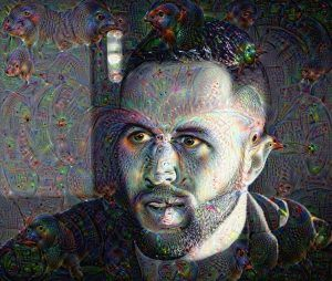 Deep dream, auto portrait version 3