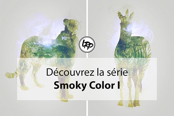 Double exposition, test série Smoky color I, sur le blog La Retouche photo.