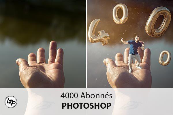 4000 abonnés : La Retouche photo, ensemble clic par clic.